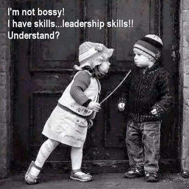 I am not bossy. I have skills...leadership skills!! Understand?