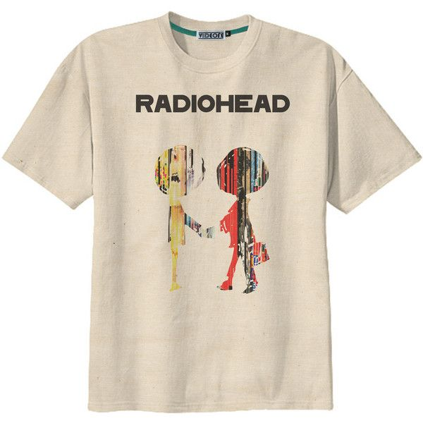79b0357812c Retro Radiohead Album Cover Rock UK Band T-Shirt Tee Organic Cotton...  ( 14) ❤ liked on Polyvore featuring tops