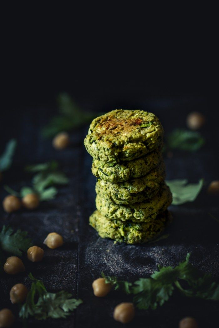 Oven Baked Zucchini & Chickpea Falafel-4