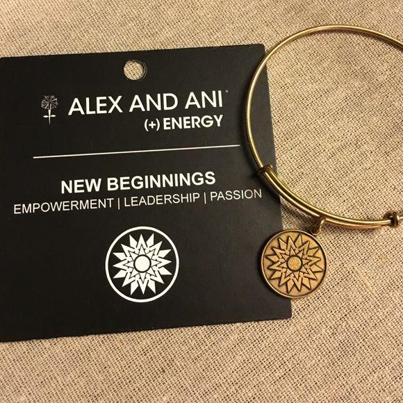 Alex and Ani New Beginnings bangle Gold finish. Great condition. Alex & Ani Jewelry Bracelets