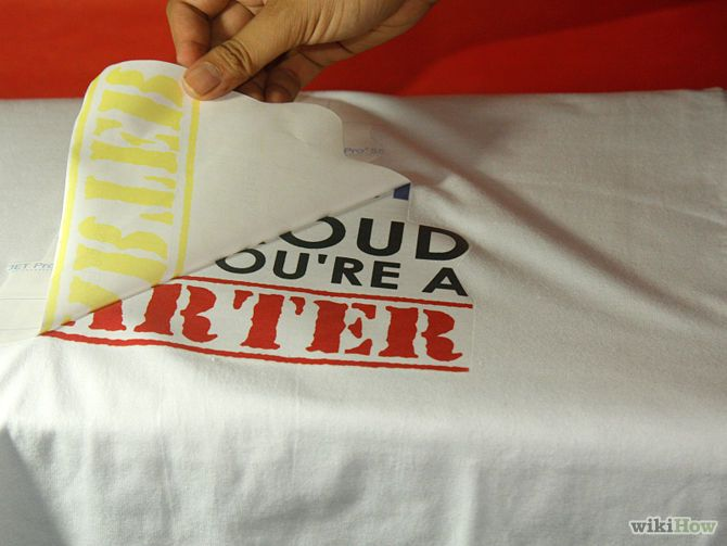 How to Print on T Shirts: 8 Steps (with Pictures) - wikiHow