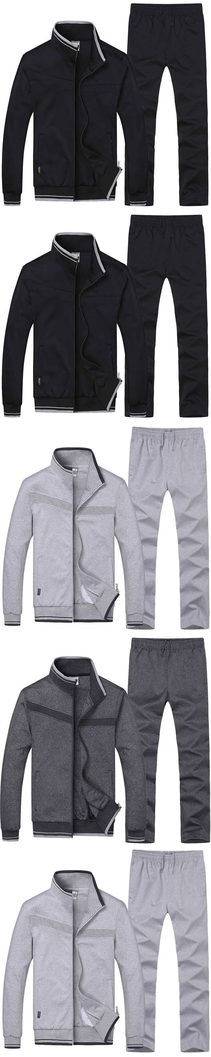 2017 Fashion Casual Men Hoodies & Sweatshirts Slim Fit Hombre Tracksuit Mens Outdoors Clothes Hoody Male Cardigan jacket+pants