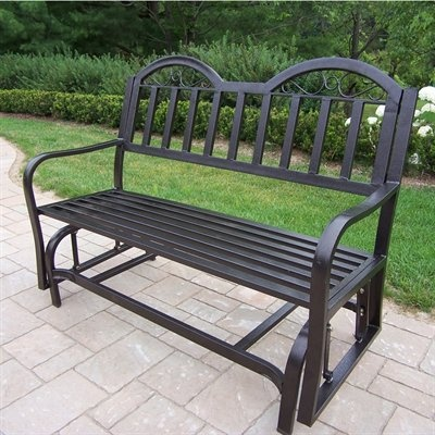 Oakland Living 6133-HB Rochester Outdoor Glider Bench - Outdoor Living Showroom