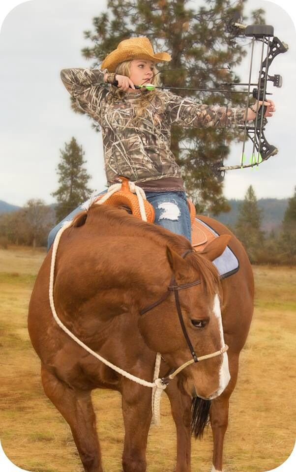 Senior Photo Idea .. Okay I really like this one.. I don't shoot well with a bow though haha so id have a rifle, instead...