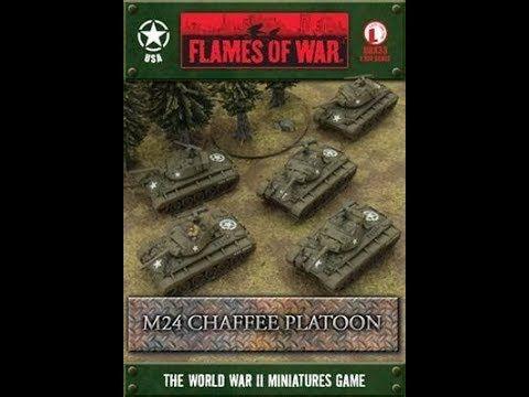 nboxing & Assembled - Flames Of War M24 Chaffee Platoon by Battlefront M...