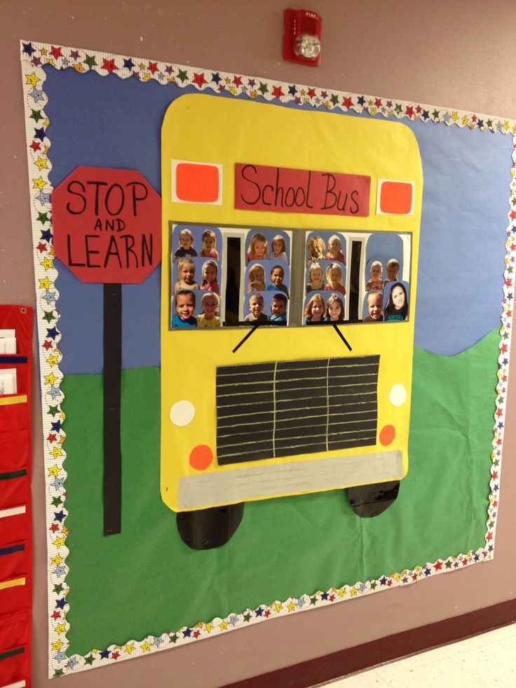 Welcome school bus board arts crafts and bulletin for Blanca vallejo