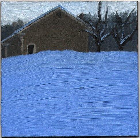 Eleanor Ray:  House on Prospect Street, 2012, Oil on Panel, 3 7/8 x 4