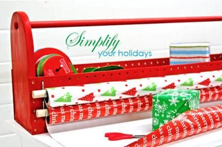 I want to make this!  DIY Furniture Plan from Ana-White.com  Bring wrapping paper dispensing to the tabletop, while keeping essentials like ribbon and tape handy and organized. holds up to four rolls of wrapping paper and an abundance of ribbons and other essentials. Easy to carry handle. Easily stows on a closet shelf.