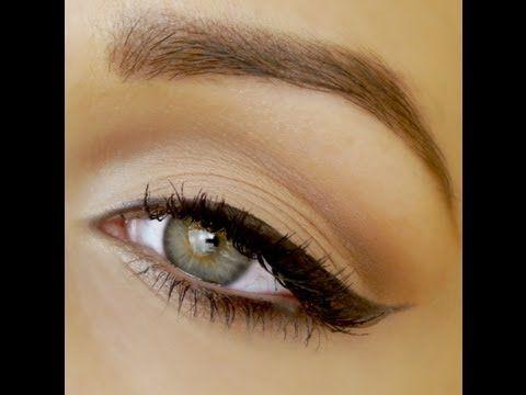 Perfect Winged Eyeliner Tutorial ♡ Cat Eye Liner - YouTube