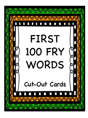 FREEBIE First 100 Fry Word Cards from Stephanie Havican on TeachersNotebook.com -  (19 pages)  - First 100 Fry Word flash cards/center activity