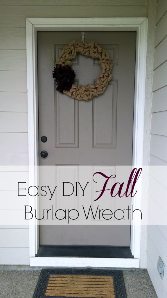 Easy DIY Burlap Fall Wreath Tutorial making this fall decor is super simple and cost less than $20!  - An Exercise In Frugality