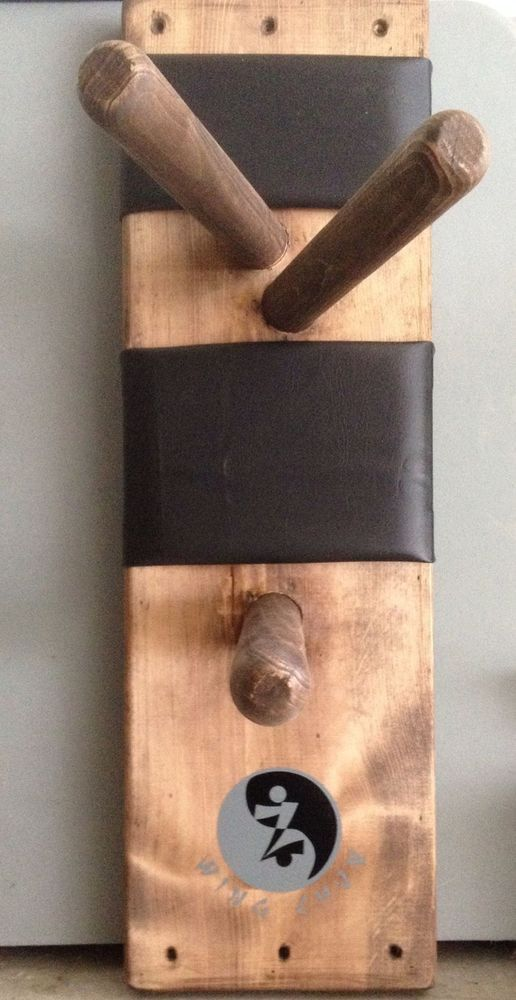 Wing Chun Wall Mount Wooden Practice Dummy. Martial arts gear