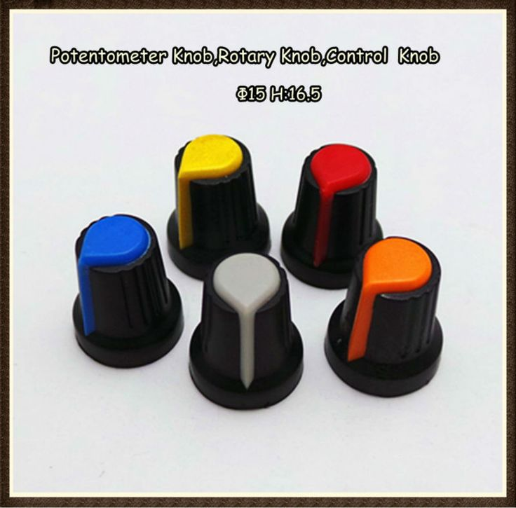 Dual Color Cap OD15mm Potentiometer Knob,Electronics Control Knob,Volume Control Knob $0.08~$0.15