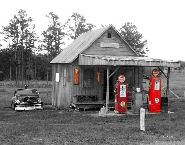 Old Gas Station Drawing Best 25+ Old ga...