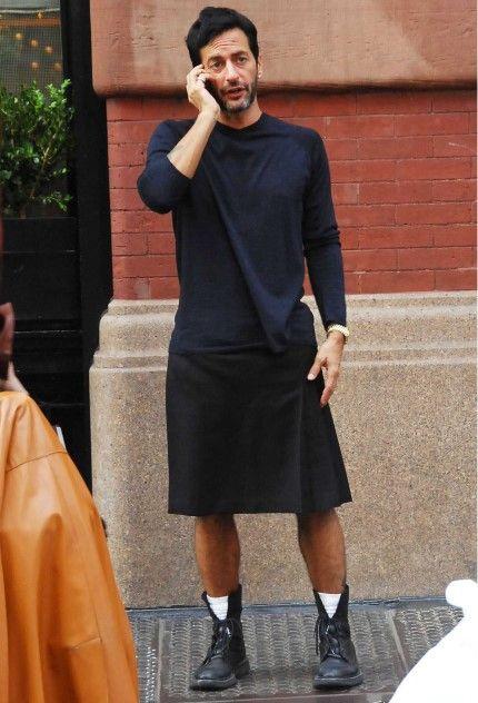 La baguette est à la mode: Men in skirt