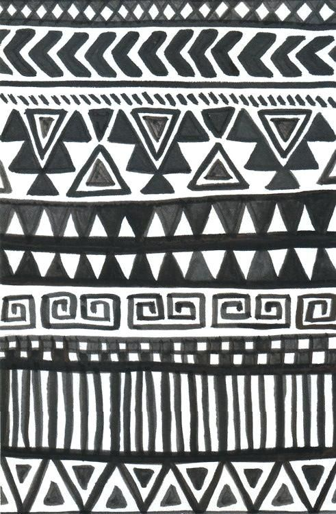 Black Tribal Wallpaper And White Print Collection Wallpapers Hd
