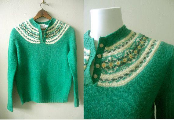 60s fair isle sweater / Shetland isles by StardustVintagestore