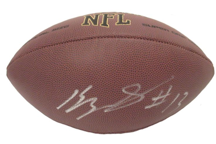 Kelvin Benjamin Autographed NFL Wilson Composite Football, Proof Photo. Kelvin Benjamin Signed NFL Football, Carolina Panthers, Florida State Seminoles, Proof  This is a brand-new Kelvin Benjamin autographed NFL Wilson composite football.  Kelvin signed the football in silver paint pen. Check out the photo of Kelvin signing for us. ** Proof photo is included for free with purchase. Please click on images to enlarge. Please browse our website for additional NFL & NCAA football autographed…