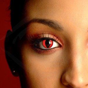 2013 Halloween Vampire Contact Lenses - Red Cat Eye Contact Lenses #halloween #vampire #contact #lenses www.loveitsomuch.com