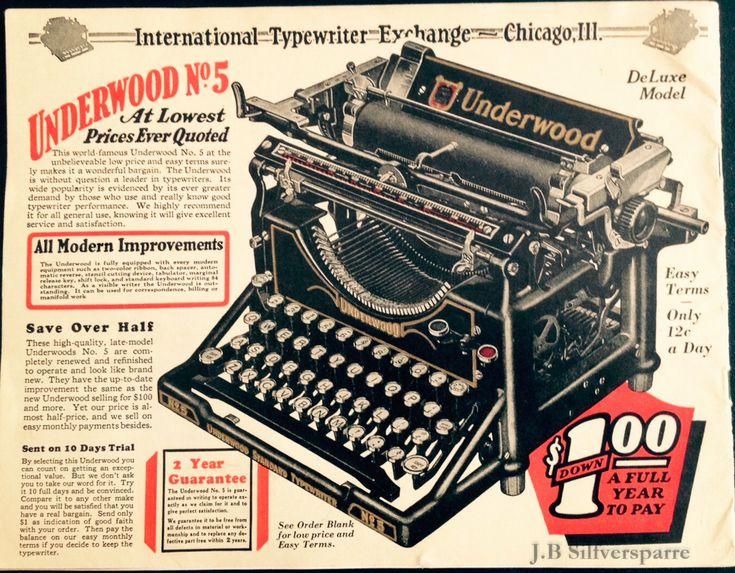 Min nya skrivmaskin - En Underwood no. 3 från 1919 (typewriter commercial)