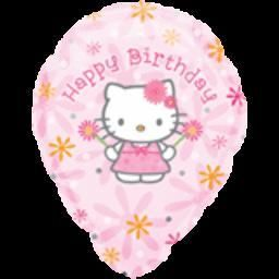18'' Hello Kitty Birthday Personalize Balloon (5ct)