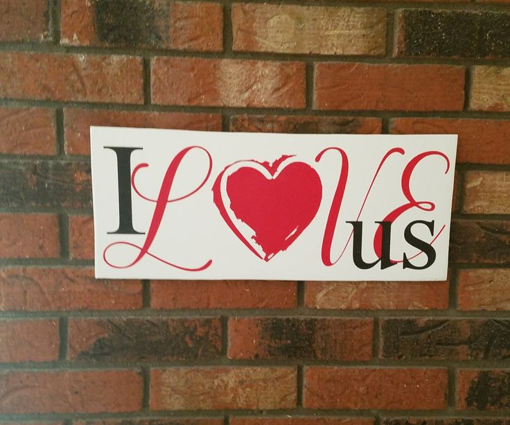love sign i love us wall sign love wall decor valentines day sign