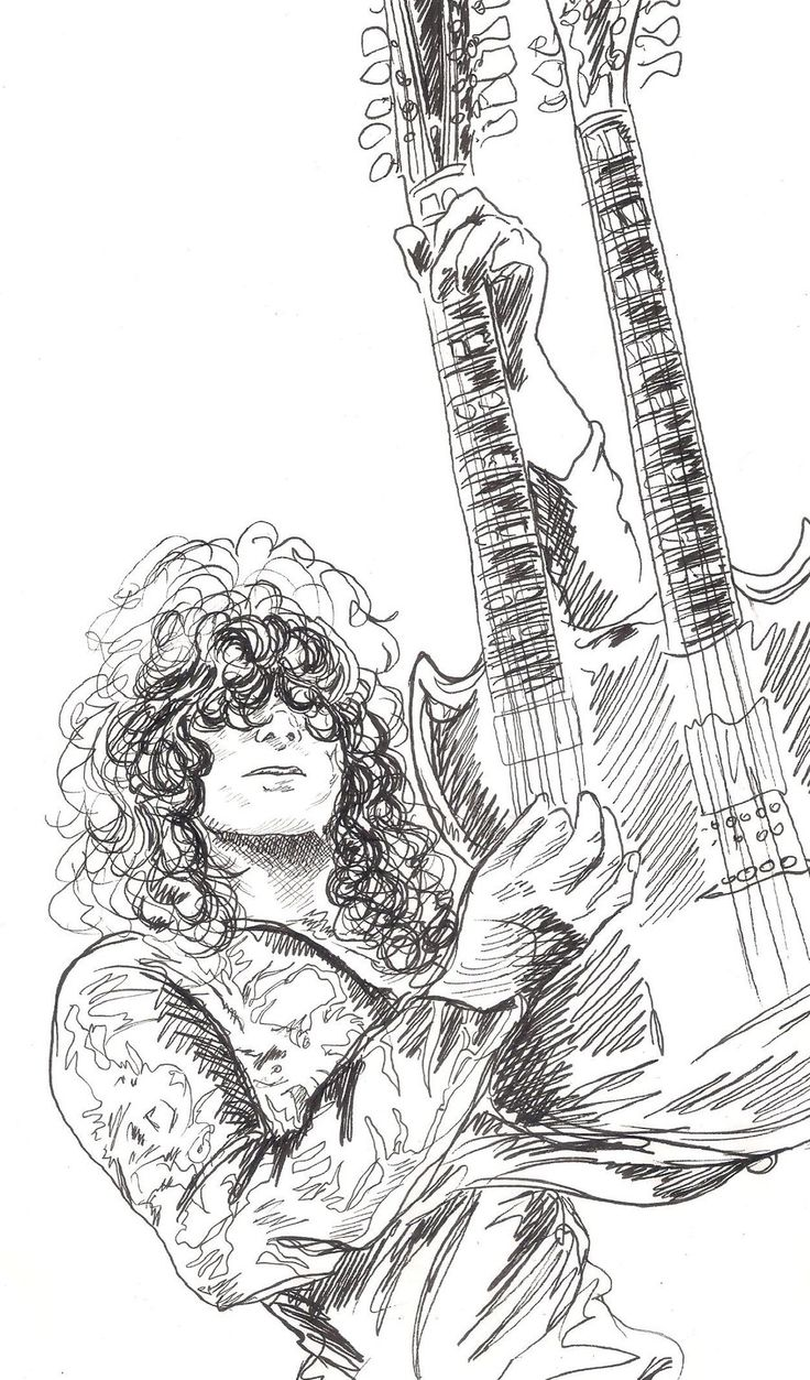 Jimmy Page Guitar Pinterest Sketches Art And Deviantart