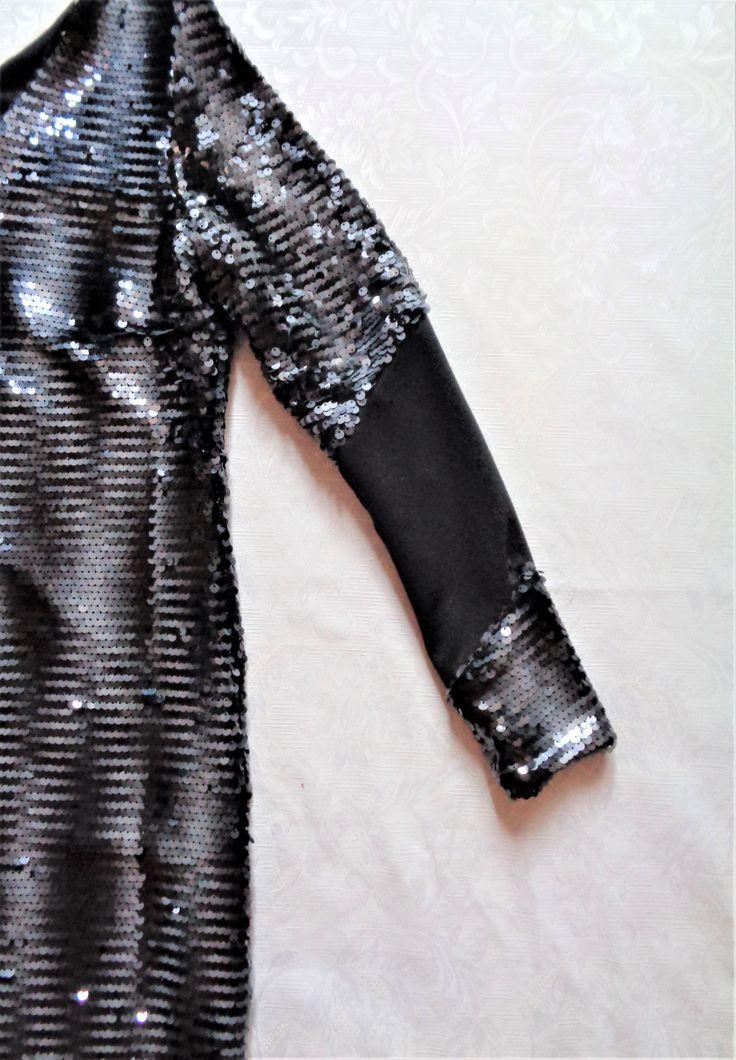 detal sukienka z cekinami   projektant  Gabriela Hezner  / sleeve dress with sequins designer Gabriela Hezner