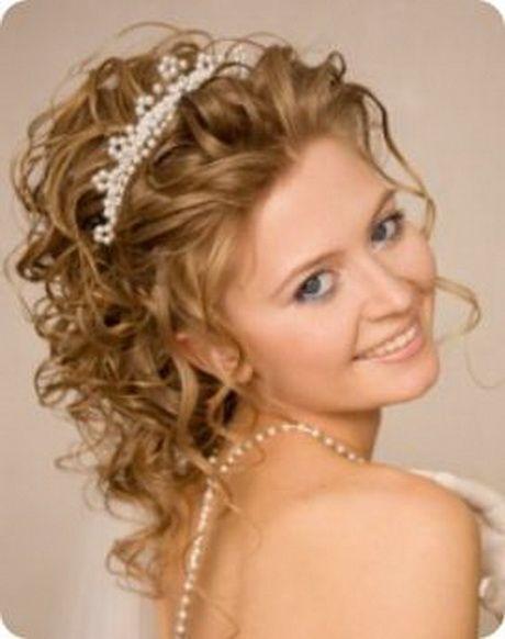 Peinados de novia cabello corto y rizado