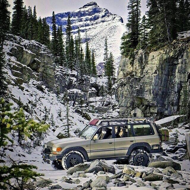 Toyota Land Cruiser Series 80, FZJ80 mountainous Offroad scenery! Love it!