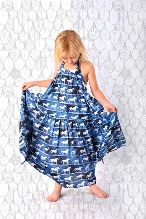 Paper Wings Summer 14Product Paper Wings Girls Horses Halter Maxi DressProduct code S14N700