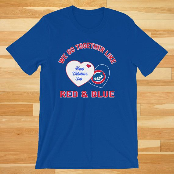 We Go Together, Valentines Gift for her, Valentines Day Gift for him, Cubs Shirt, Cubs Gifts, Cubs T Shirt, Cubs tshirt, Chicago, Chicago cubs shirt, Chicago gift  A Unique gift this Valentines Day for someone you love :) Get yours today!!  This t-shirt is everything youve dreamed of
