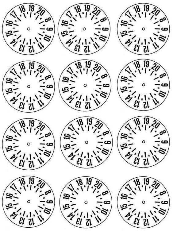 Risultati immagini per disco orario da stampare e colorare