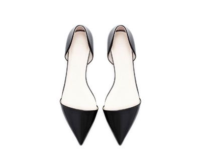 yes please, in my basket...POINTED FLAT SHOE from Zara