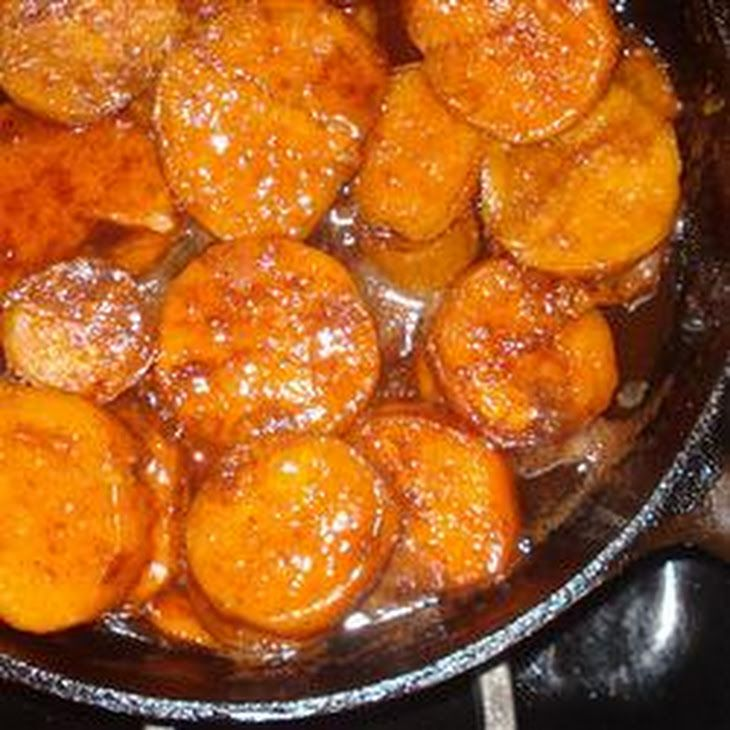 Southern Candied Sweet Potatoes Recipe Side Dishes with white sugar, ground cinnamon, ground nutmeg, salt, butter, sweet potatoes, vanilla extract