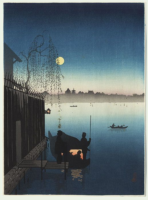 Evening Cool on the Sumida by Shoda Koho (1871 - 1946)