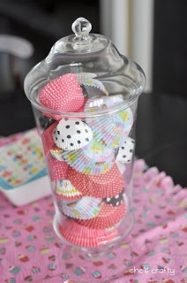 Cupcake Party game: guess how many cupcake wrappers are in here :) or for decorating!