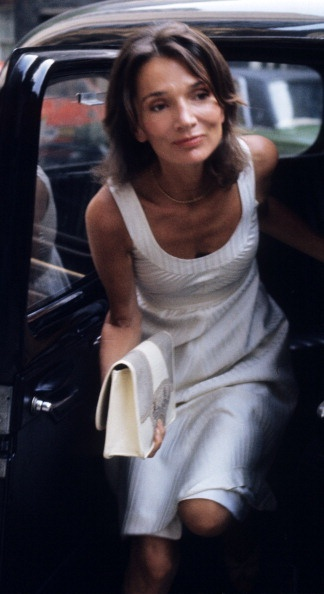 Lee Radziwill arriving at her house  in London, July 26, 1976