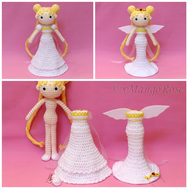 Clothes Dress are removable and changeable. https://www.etsy.com/listing/264860726/princess-neo-queen-serenity-amigurumi