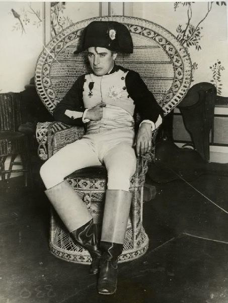 Charlie Chaplin wearing his Napoleon costume.