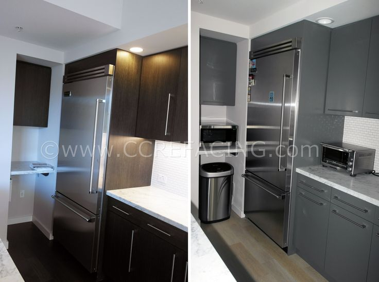 San Bruno cabinet reface refacing with Grey Slab doors
