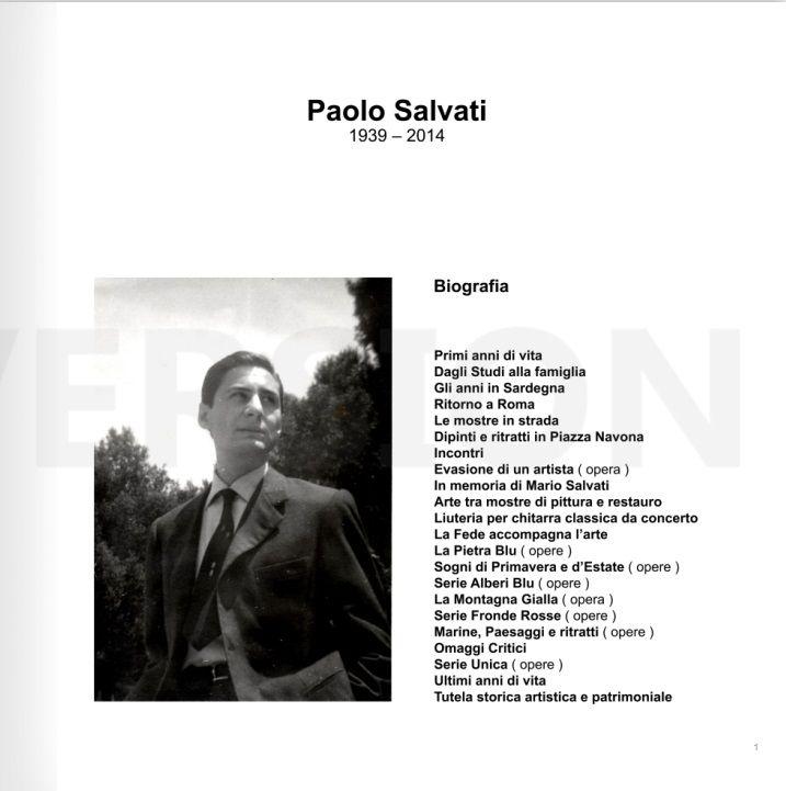 PAOLO SALVATI - Biografia 1939 - 2014.