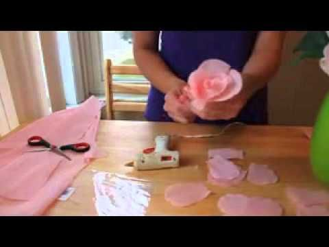 Tutorial: Rosas de papel. Paper roses. - YouTube