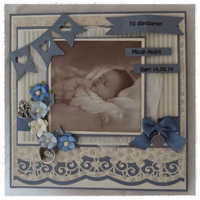 Dåpskort til gutt  Christening card for boy  Pion Design, Kort og Godt, Wild Orchid Crafts, Spellbinders