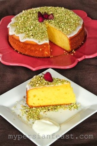 Persian Saffron Yoghurt Cake