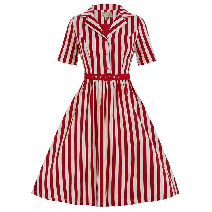 Bletchley Red Stripe Swing Dress