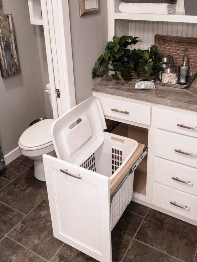 You Can Hide Your Laundry Basket In Your Bathroom Drawer