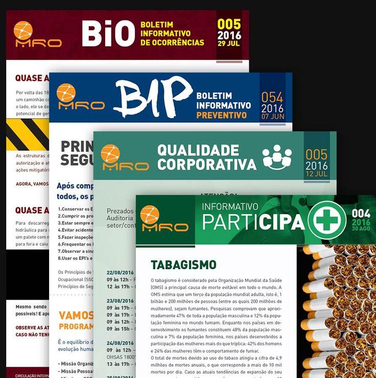 Criação dos Boletins Informativos ( Cipa, Qualidade Corporativa, Preventivo e Ocorrências )
