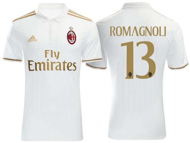AC Milan #13 Alessio Romagnoli 2016-17 Road Jersey