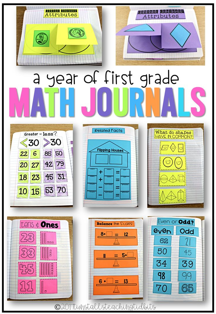 A year of first grade math journals, interactive math notebook for first grade